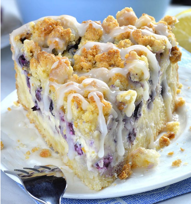 Blueberry Cheesecake Crumb Cake #dessert #cheesecake