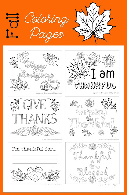 free fall coloring pages for Thanksgiving