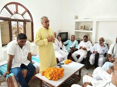 संगठन चुनाव को लेकर कांग्रेस की बैठक सम्पन्न पिछोर ब्लॉक कांग्रेस की कमान पुन: पाराशर को