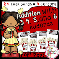 Adding 3, 4, 5, and 6 Addends
