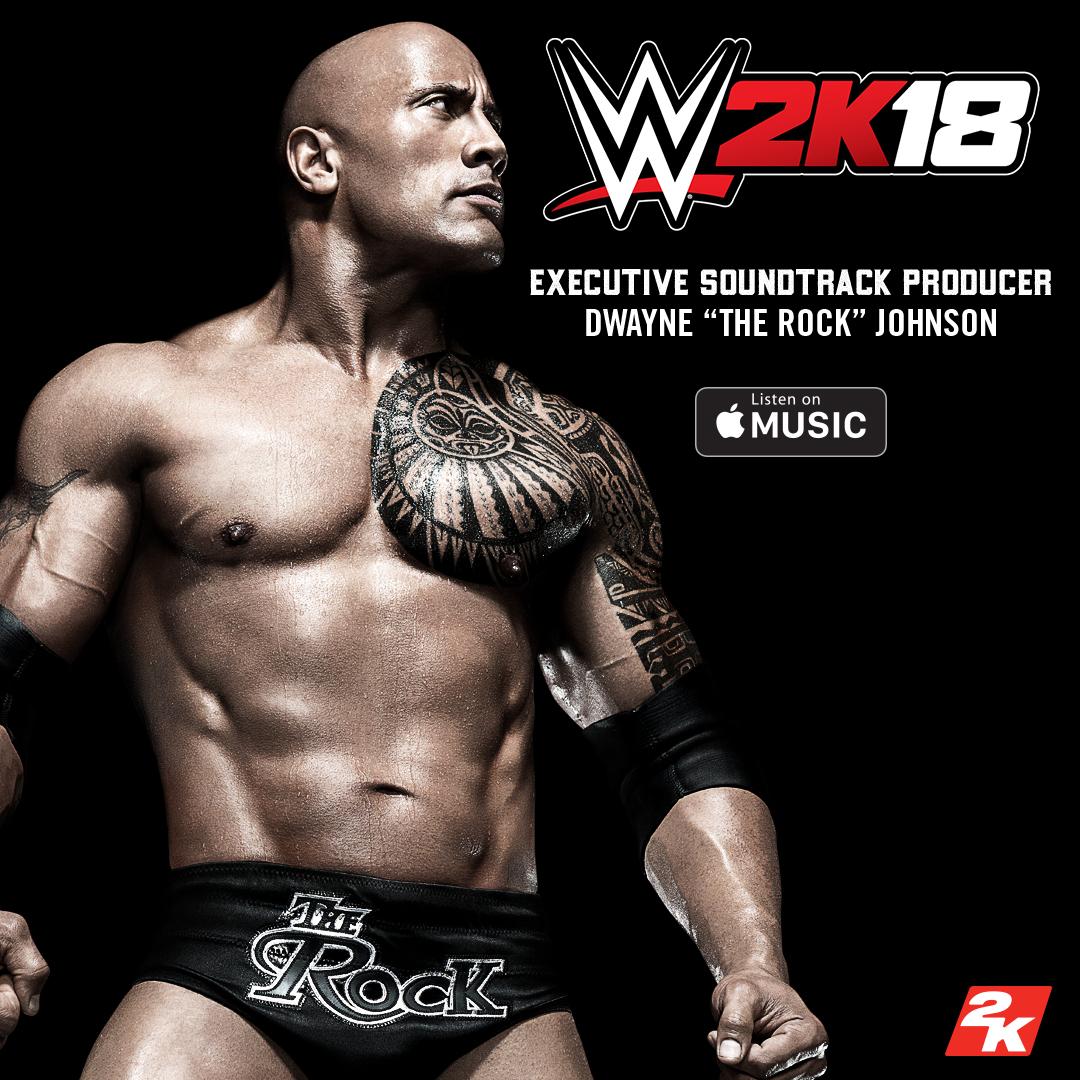 The Rock será productor ejecutivo de la banda sonora de WWE2K18