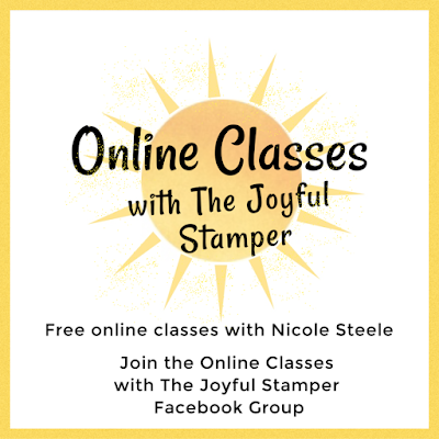 Online Classes with The Joyful Stamper Facebook Group free stamping classes stampin' up! papercrafts learn to stamp