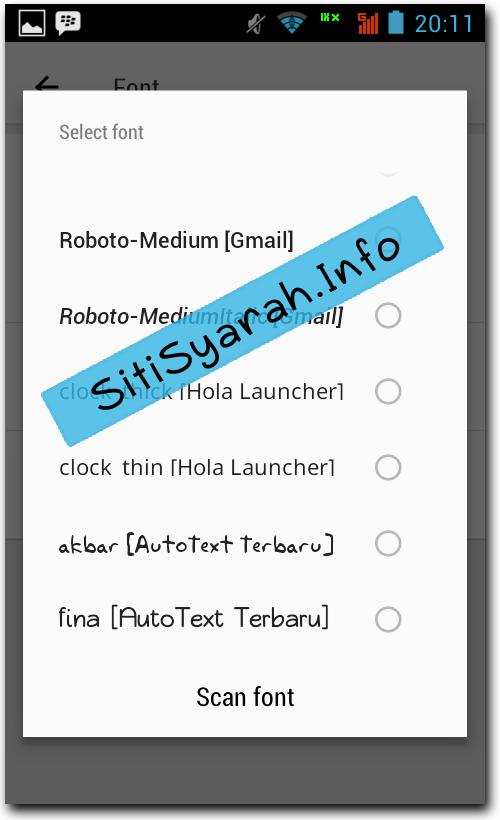 Ganti huruf Android Lollipop Terbaru