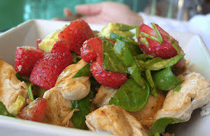 Chicken, Strawberry, and Avocado Salad