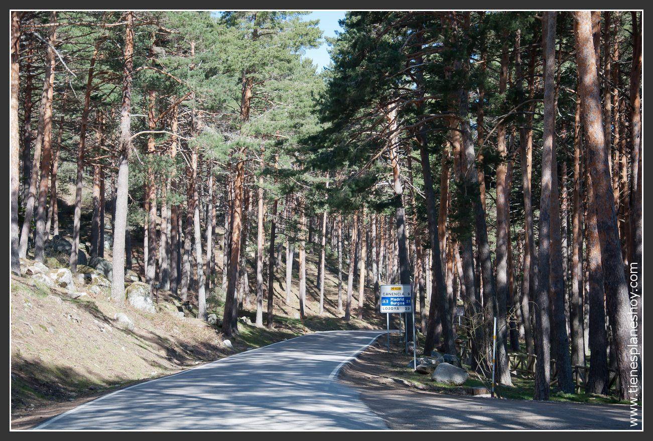 Ruta Chorrera de Mojonavalle en el Puerto de Canencia Madrid