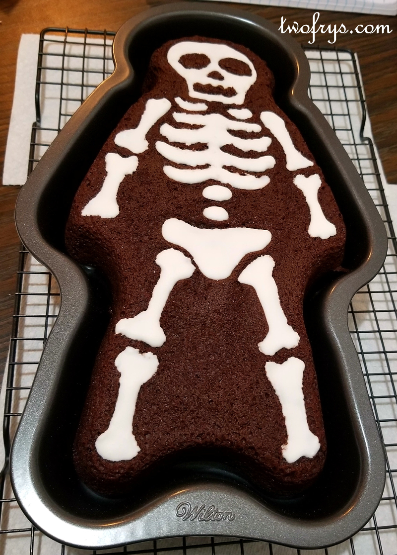 Two Frys Skeleton Cake
