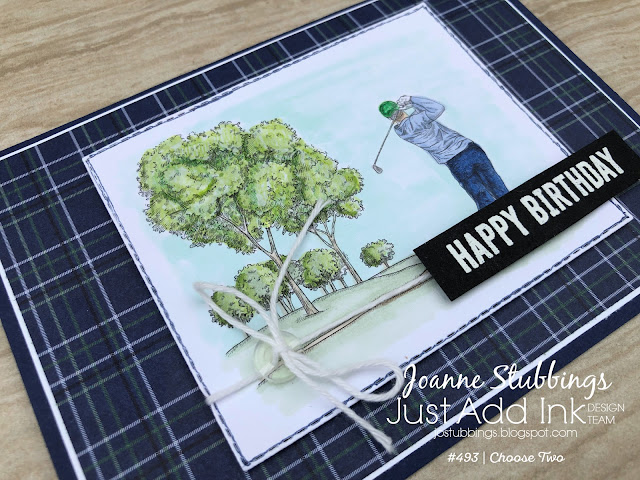 Jo's Stamping Spot - Just Add Ink Challenge #493 using Country Club DSP by Stampin' Up!