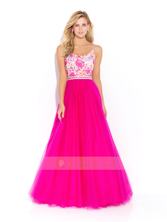 Blossoms Pink Prom Dress