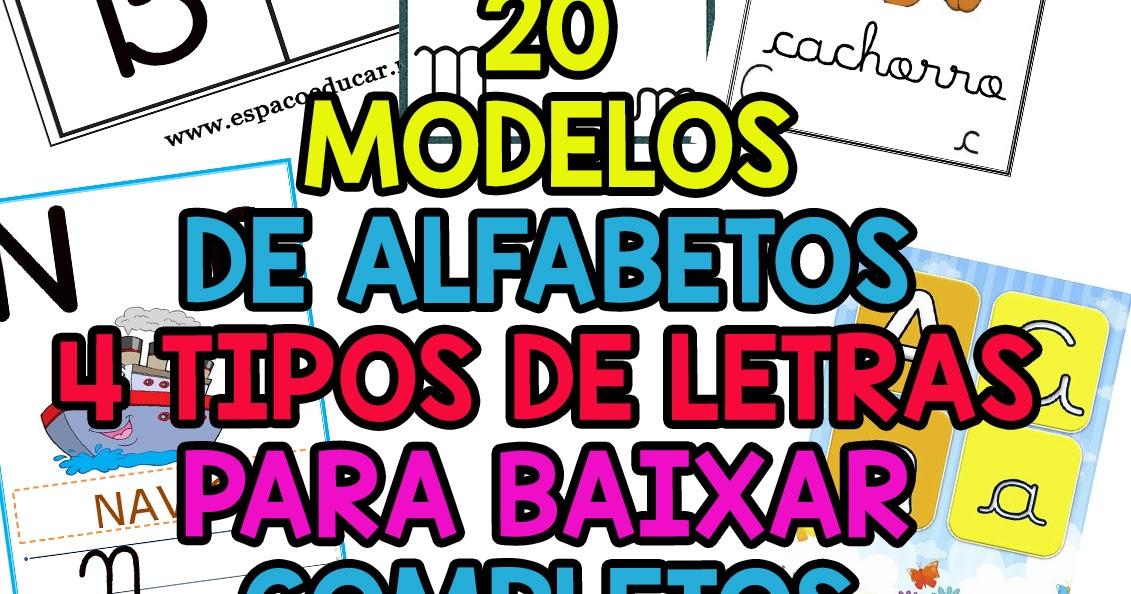 20 Modelos Diferentes De Cartazes Do Alfabeto Em 4 Quatro Ou Todos