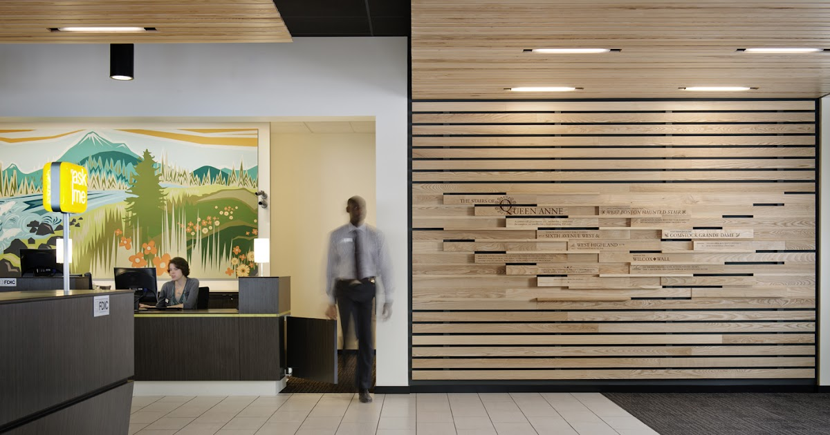Made Umpqua Bank Queen Anne Narrative Wall Installation