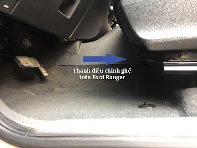 thanh điều chỉnh ghế trên ford ranger