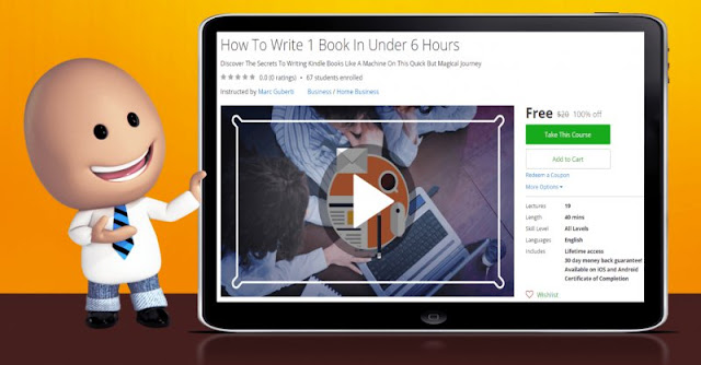 [100% Off] How To Write 1 Book In Under 6 Hours| Worth 20$