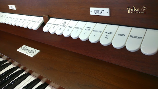 Photo of Allen Organ Great division stops