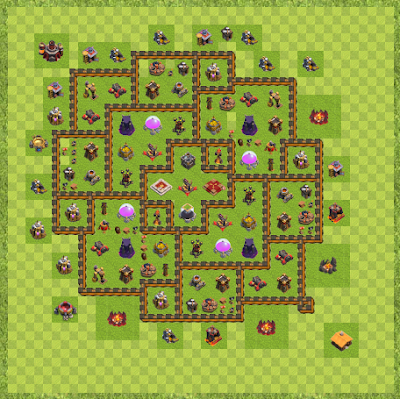 War Base Town Hall Level 10 By Dtm642 (Warrior TH 10 Layout)
