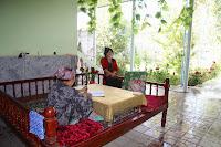 Tajikistan, Gulakandoz, Gulbahor, Aygul, topchan, © L. Gigout, 2012