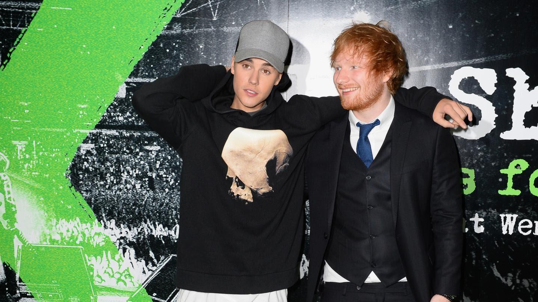 Nome por trás de alguns sucessos de Bieber, Sheeran finalmente lançará uma música com o cantor