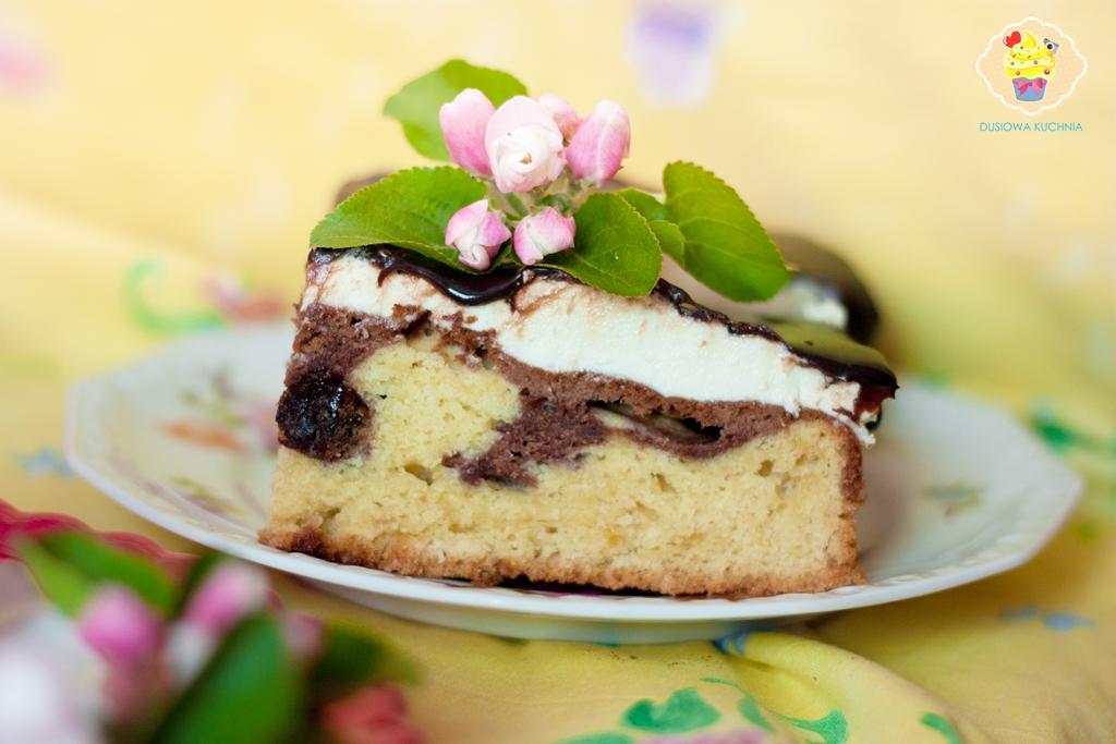 ciasto fale dunaju, przepis na fale dunaju, ciasto fale dunaju z wiśniami, fale dunaju z wiśniami