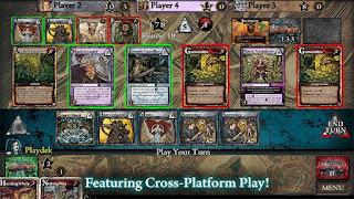 Ascension card game screenshot while playing
