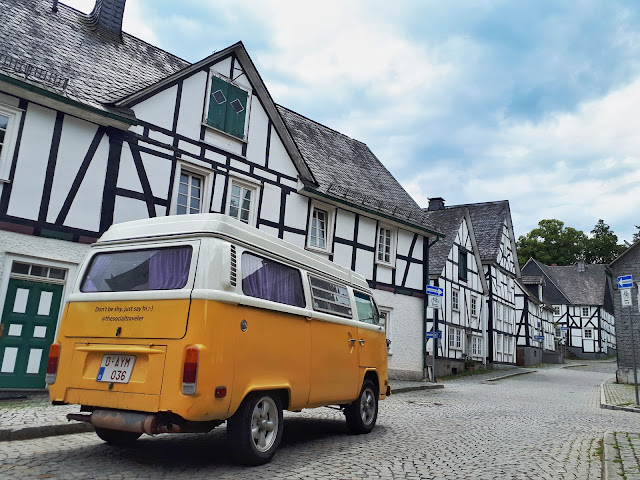 streets of fachwerkhaus town Freudenberg in NRW, Germany
