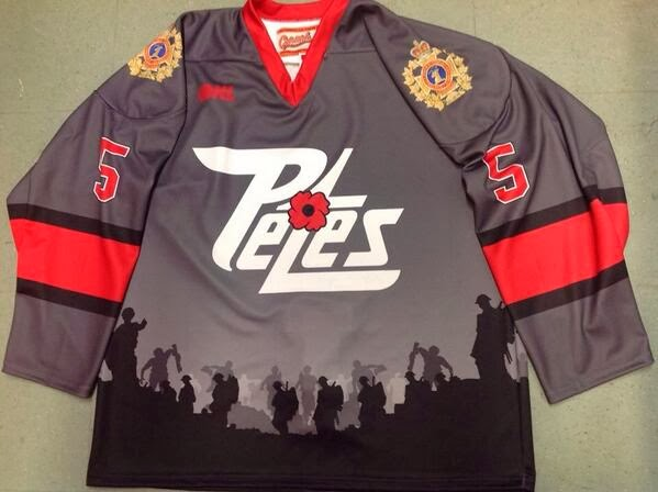 Another great OHL team in the Peterborough Petes looked fantastic on  Thursday night in their Remembrance Day uniforms 5ac0952f735