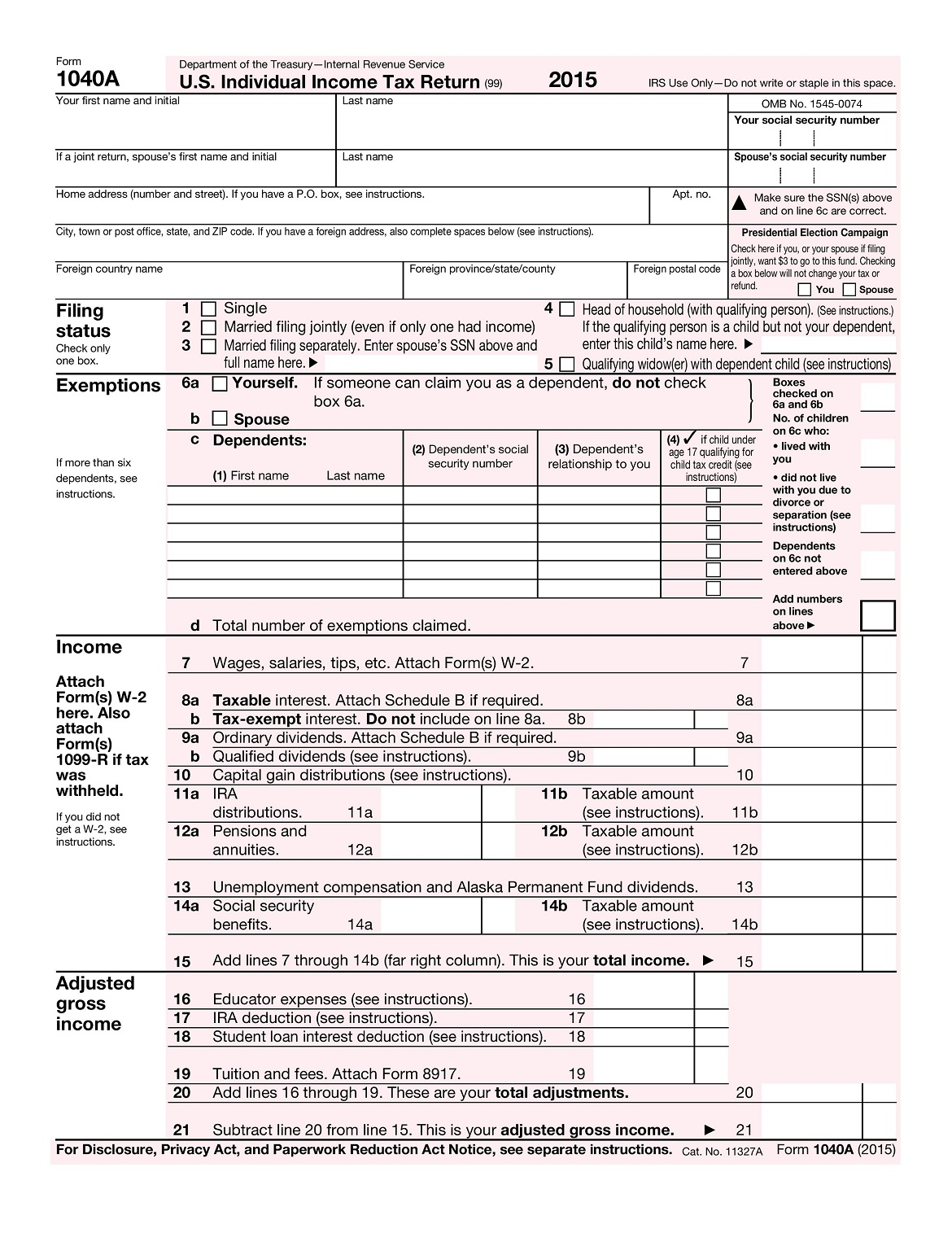 Federal Income Tax Tables A