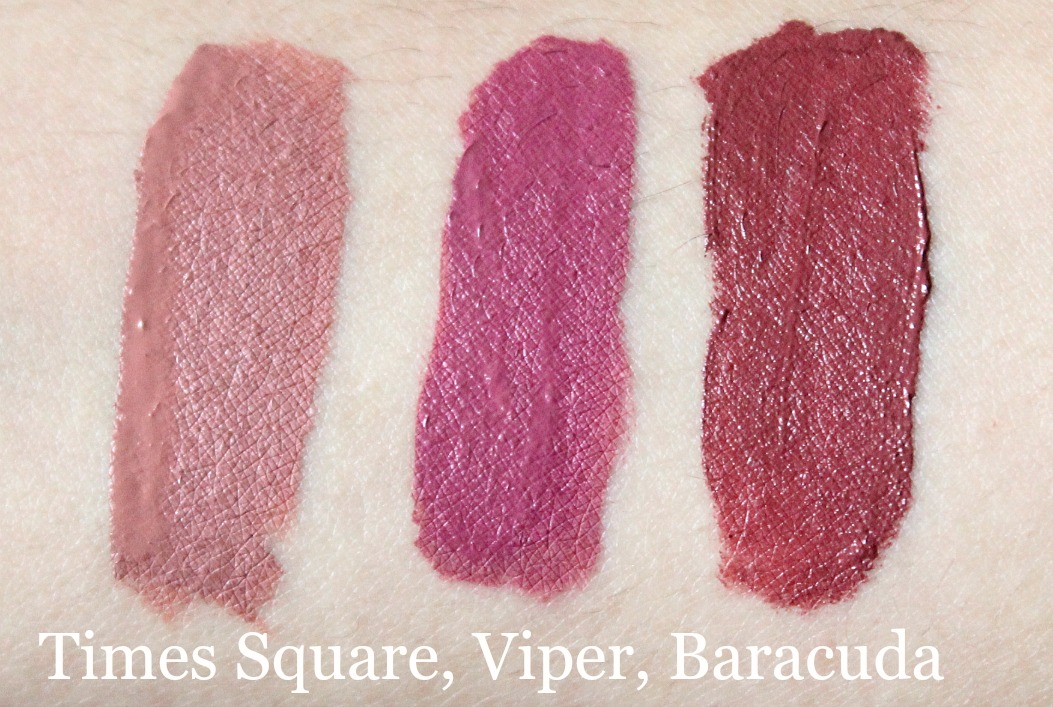 colourpop out and about set review AND swatch times square, viper, baracuda