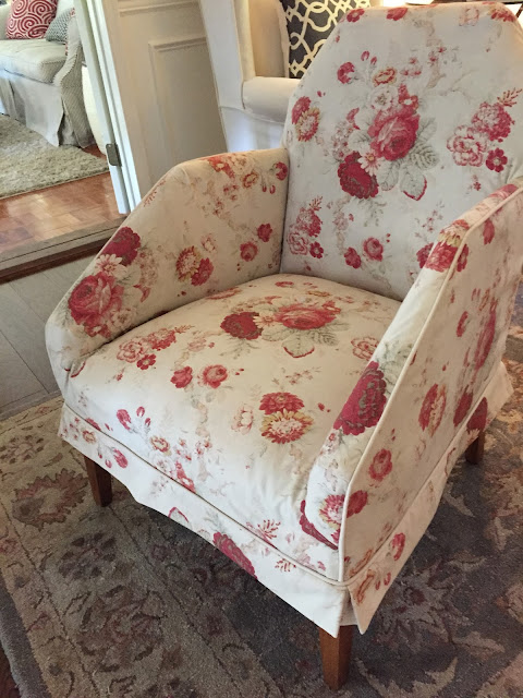 A Thrift Store Find Slipcovered In Vintage Waverly Print For A Sweet Little  Bedroom Chair.
