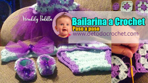 Vestido y accesorios para Bebé Princesa a Crochet / Paso a paso