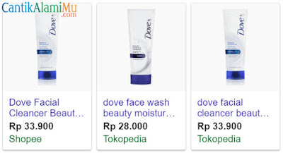 Harga Dove Beauty Moisture