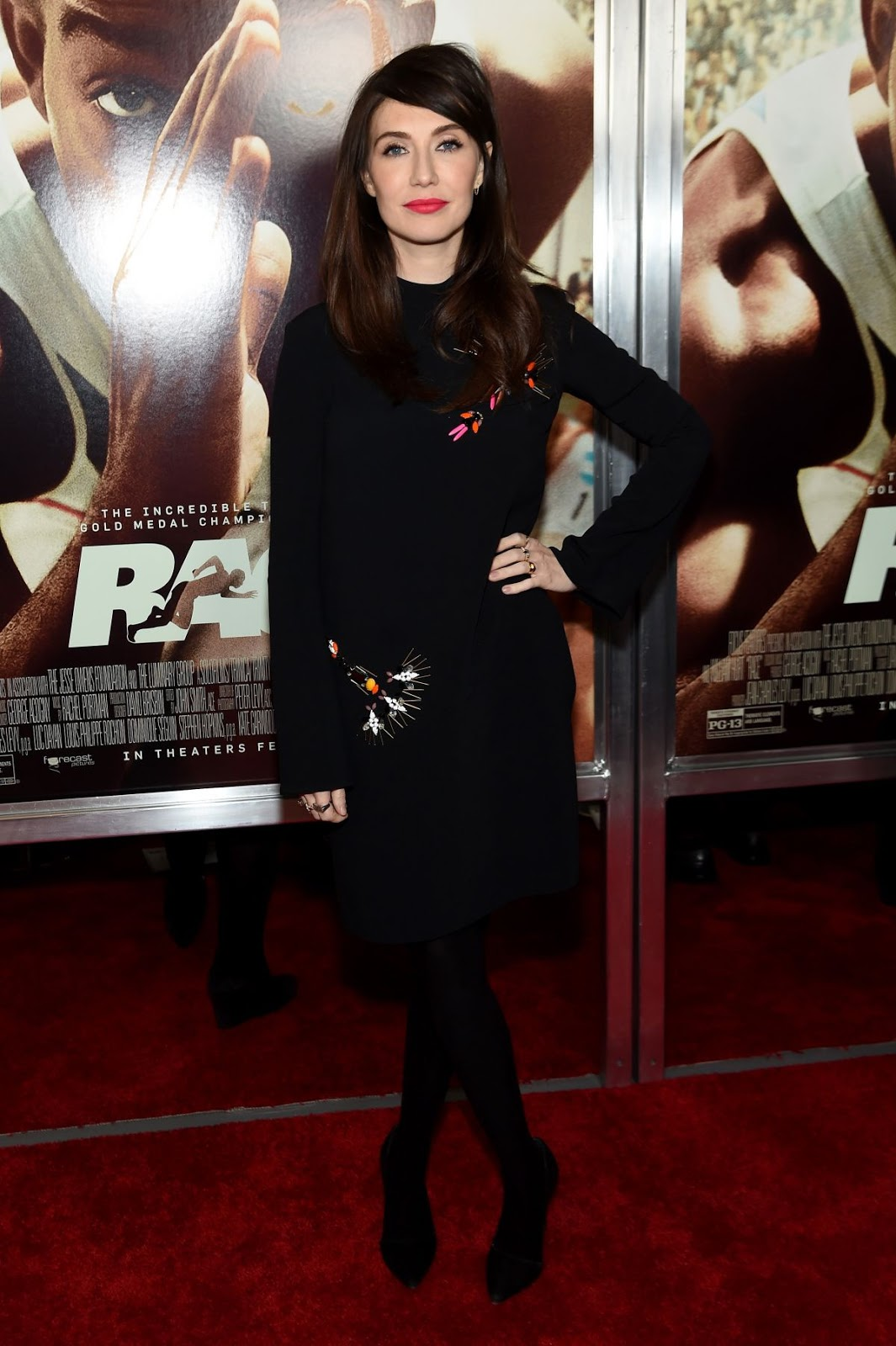 Game of Thrones actress Carice Van Houten at Race Screening in New York