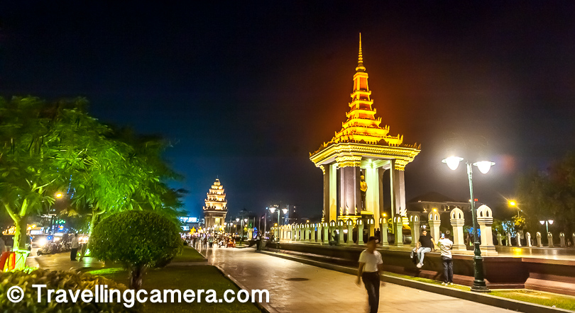 After landing in Cambodia, the very first monument I saw was Independence Monument in Phnom Penh City, which is capital of Cambodia. It's a beautifully maintained with green landscape around these monuments. The place is one of the most visited place by folks traveling to the city from other parts of the world. This post shares more about the place and why it makes to the list of places to explore in the capital city of Cambodia.