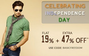 Basicslife Independence Offer: Flat 19% Off + Extra 47% Off on Men's Clothing, Shoes, Caps, Sunglasses (Free Shipping)