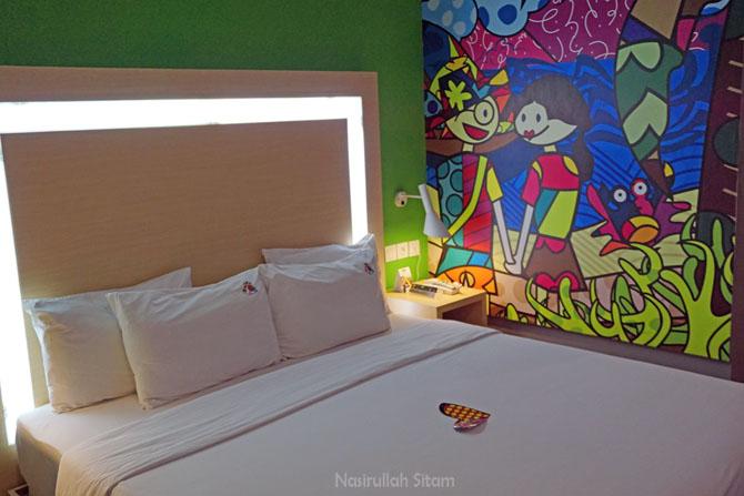 Salah satu kamar di MaxOne hotel Belitung