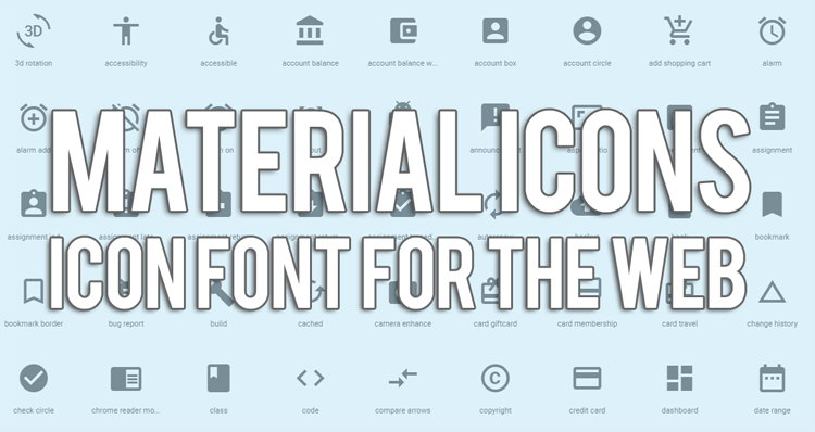Cara Pasang Material Iconts Font For The Web Di Blog