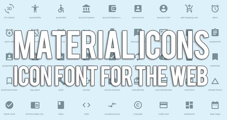 Cara Pasang Material Iconts Font For The Web Di Blog