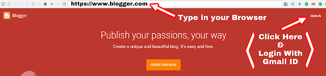 Blogger home page