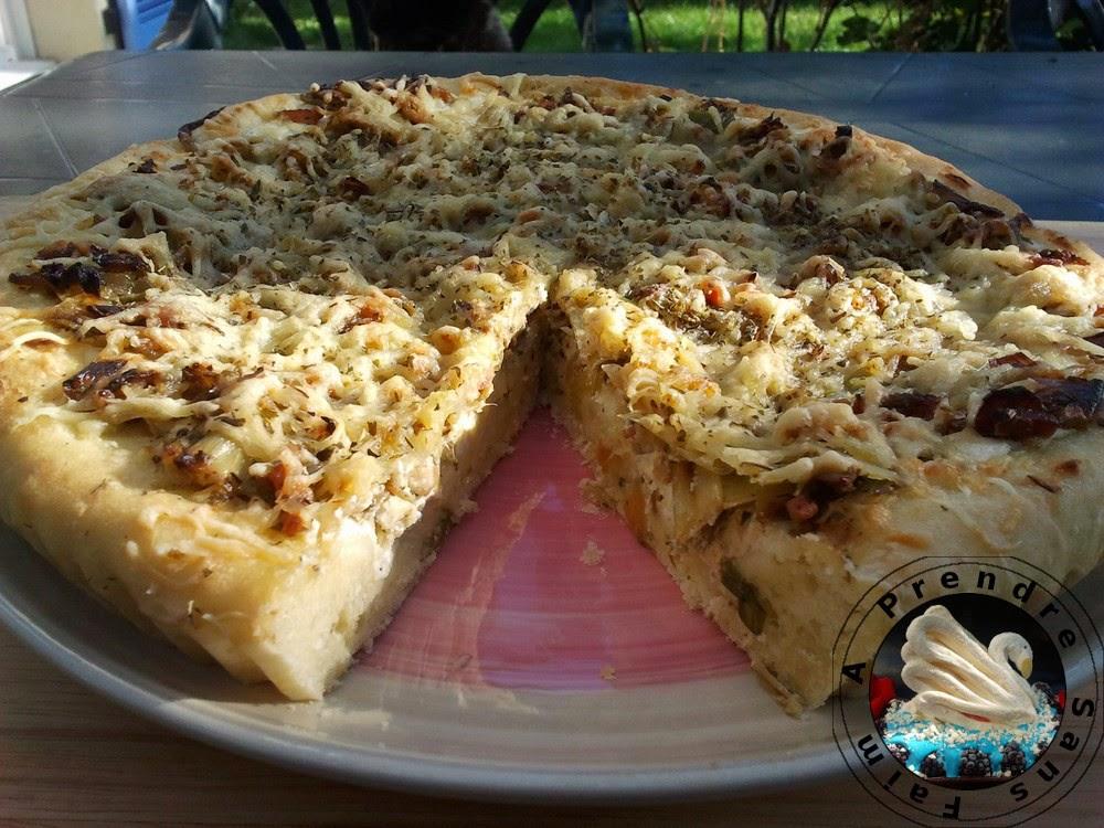 Tarte aux poireaux façon pizza (pas à pas en photos)