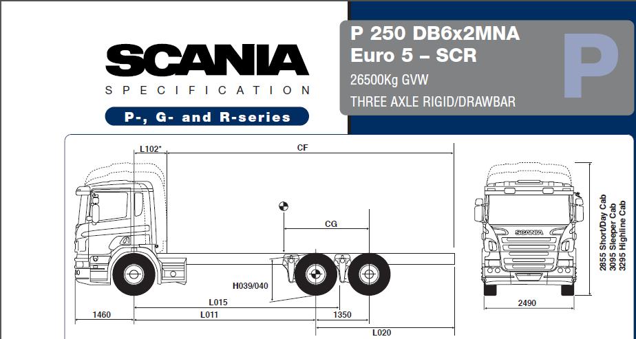 Scania P250 3 Axle Truck