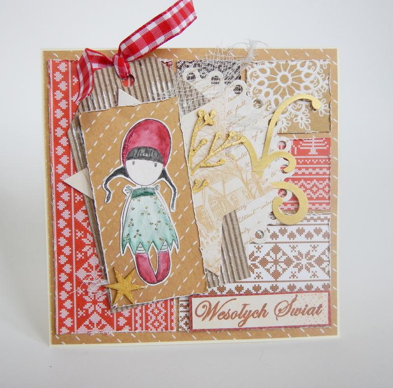 Kartka świąteczna z Holly Gorjuss firmy Santoro