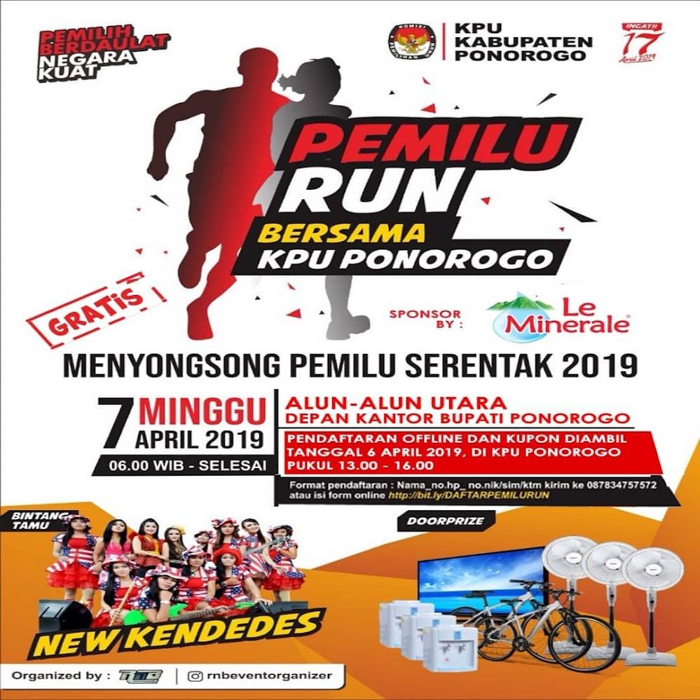 Pemilu Run - Ponorogo • 2019