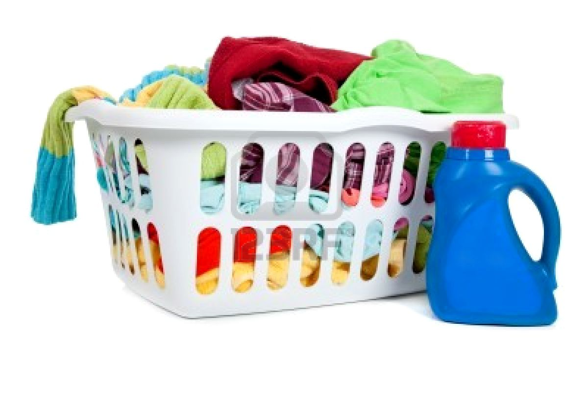 hight resolution of laundry basket clipart