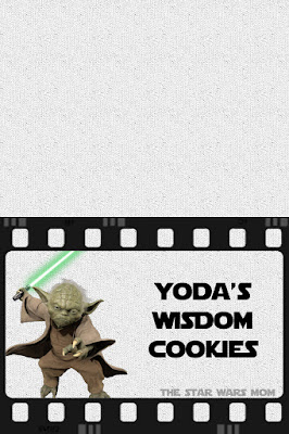 Star Wars Party Food Label - Yoda Wisdom Cookies - Free Printable