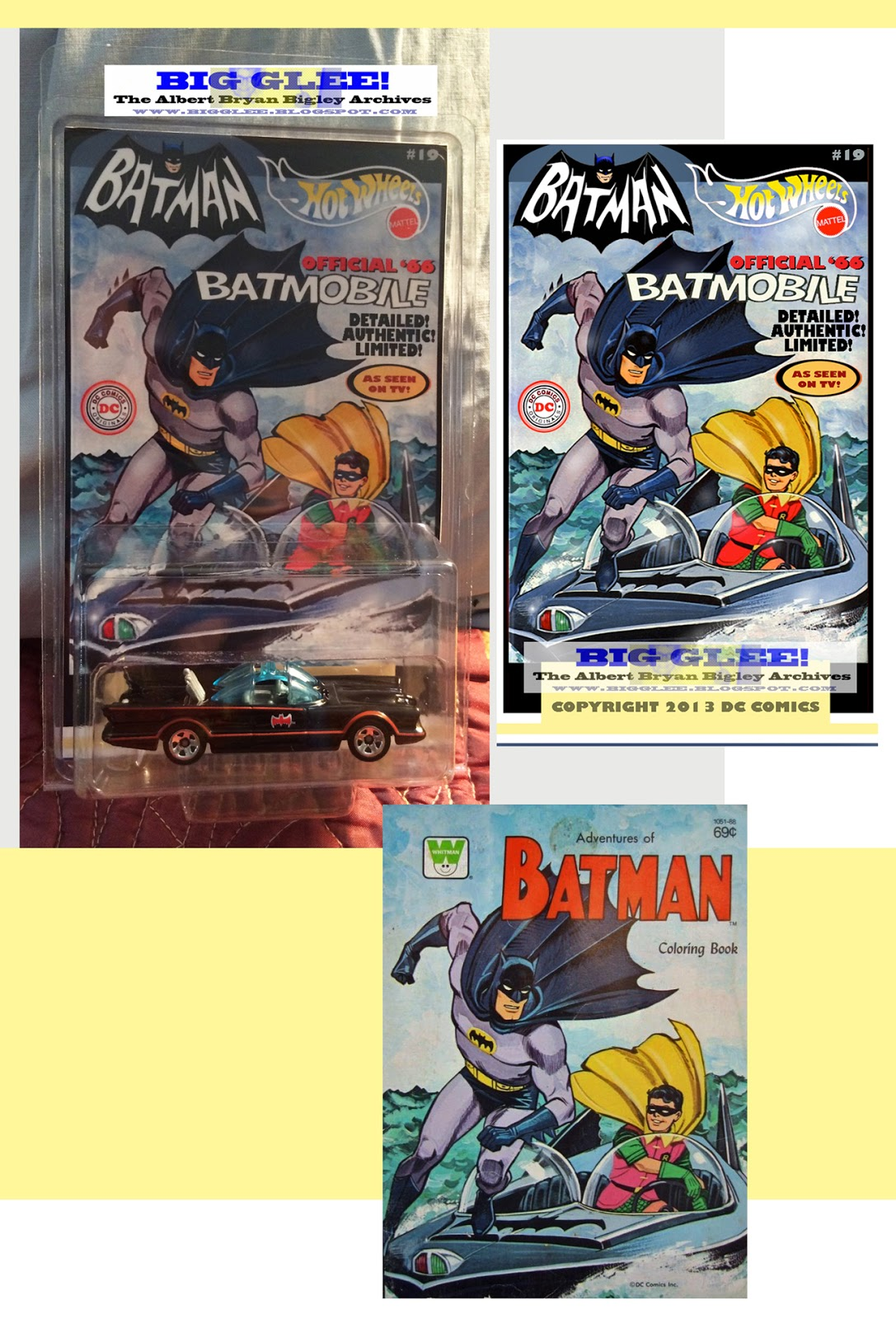 Above Using The Cover To A Sensational 67 Coloring Book Here Is Fabulous Custom Batmobile Display Sure Thats Actually Batboat Dynamic Duo