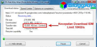 Cara Mengatur Speed Limiter IDM Supaya Download Cepat
