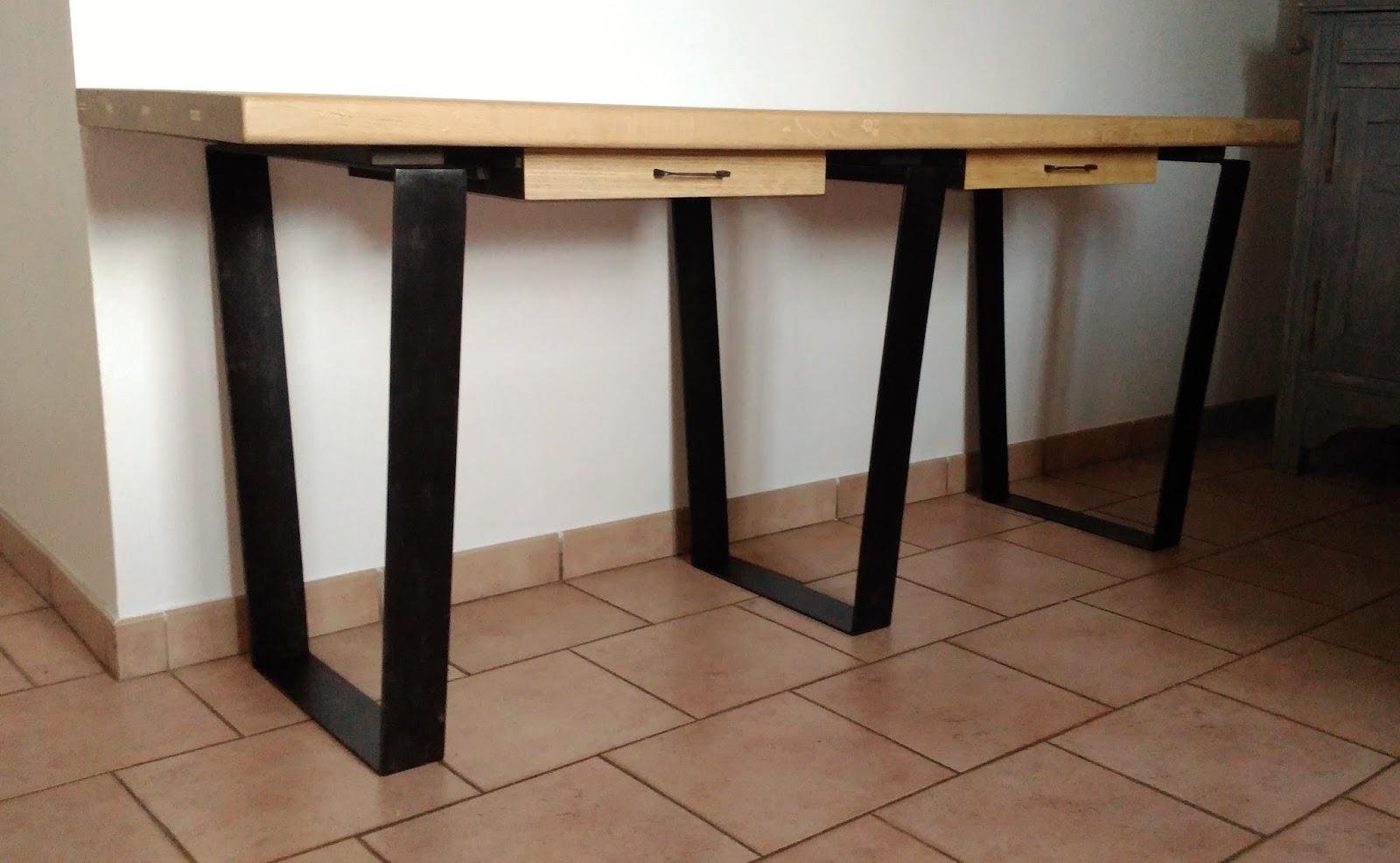 Bureaux bois recycle et metal digne d observer bureau bois et
