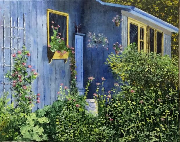 Artiste Peintre Roger Laplante La Maison Bleue