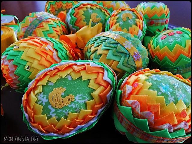 Jajka zdobione techniką karczochową