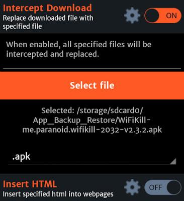 Sustituir el archivo descargado