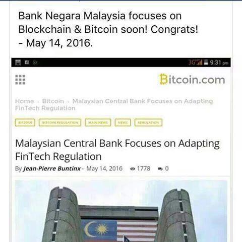 malaysia mengakui Bitcoin sebagai mata wang