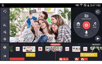KineMaster - aplikasi edit video vlog